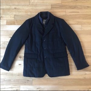 Jos. A Bank Navy Blue mens lined pocketed jacket
